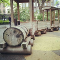 Photo taken at Washington Market Park by Masami K. on 5/7/2012