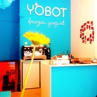 Photo taken at Yobot Frozen Yogurt by Thuy M. on 4/10/2012