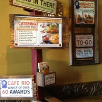 Photo taken at Cafe Rio by Lindsay G. on 3/24/2012