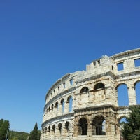 Photo taken at Arena Pula | The Pula Amphitheater by Barry N. on 8/9/2012