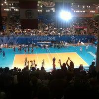 Photo taken at Complejo Panamericano de Voleibol by Efrén G. on 10/25/2011