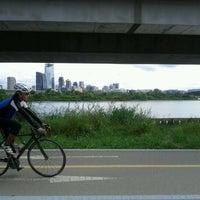 Photo taken at Han River Bicycle Path 한강 자전거도로 by Jaecheol B. on 9/18/2011