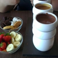 Photo taken at Max Brenner Chocolate Bar by lyanalouise on 8/21/2012