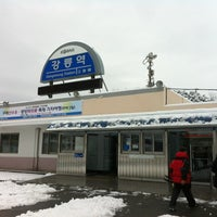 Photo taken at Gangneung Stn. by Jung Kweon K. on 2/26/2012