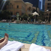 Photo taken at The Pool At Bellagio by Boris F. on 3/13/2012