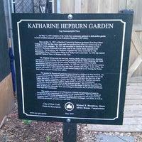 Photo taken at Katharine Hepburn Garden by Steven S. on 3/16/2012