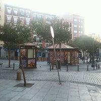 Photo taken at Plaza de Lavapiés by Raul on 2/29/2012