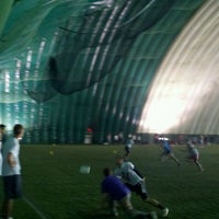 Photo taken at Robert Morris University Island Sports Center - Golf Dome by Mark D. on 1/8/2012