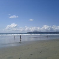 Photo taken at Coronado Beach by Rachelle M. on 2/19/2012