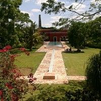 Photo taken at Hacienda Temozon by Nicolas B. on 4/26/2012