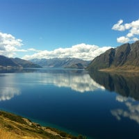 Photo taken at Lake Wanaka by Greg S. on 2/16/2012