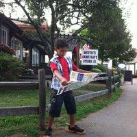 Photo taken at Olde Mystic Village by Kathleen K. on 7/17/2012