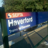 Photo taken at SEPTA Haverford Station by Hyemee K. on 9/12/2011