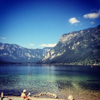 Photo taken at Bohinjsko jezero (Bohinj Lake) by Žan H. on 8/18/2012