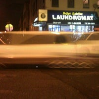 Photo taken at Brooklyn Bubbles Laundromat by Felipe F. on 10/1/2011
