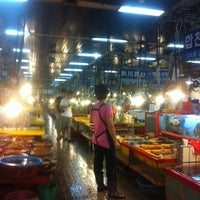 Photo taken at Jagalchi Fish Market by Youno on 8/17/2011