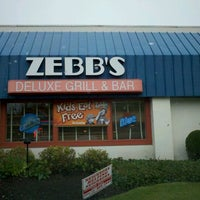 Photo taken at Zebb's Deluxe Grill & Bar by Mike J. on 10/15/2011