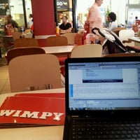 Photo taken at Wimpy by Josh C. on 2/26/2012