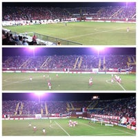 Photo taken at Estádio Arena Joinville by Paulo Henrique S. on 7/25/2012
