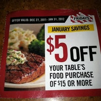 Photo taken at TGI Fridays by Mimi G. on 1/29/2012