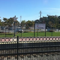 Photo taken at Hayward Park Caltrain Station by Karen on 9/28/2011