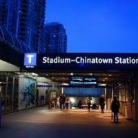 Photo taken at Stadium - Chinatown SkyTrain Station by Marc C. on 4/5/2012