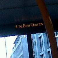 Photo taken at TfL Bus 8 by Nuria C. on 10/18/2011