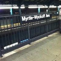 Photo taken at MTA Subway - Myrtle/Wyckoff Ave (L/M) by Kristen K. on 11/29/2011