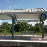 Photo taken at CentrePort / DFW Airport Station (TRE, DART bus, The T) by Spencer K. on 7/17/2012
