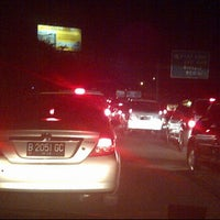 Photo taken at Gerbang Tol Pondok Gede Timur by Mohammad Reza Pratomo on 6/6/2012