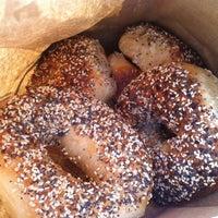 Photo taken at Izzy's Brooklyn Bagels by Jennifer K. on 4/15/2012