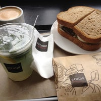 Photo taken at Aroma Espresso Bar by Maria L. on 6/13/2012