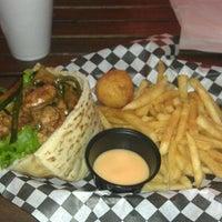 Photo taken at Bun Bun Gourmet Burger and Tea House by David C. on 9/14/2011