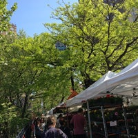 Photo taken at Abingdon Square Greenmarket by Leigh F. on 4/21/2012