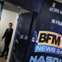 Photo taken at BFM TV by Nicolas Sarkozy on 3/8/2012