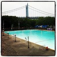 Photo taken at Astoria Park Pool by David M. on 7/13/2012