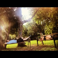 Photo taken at Menil Park by Stefani B. on 6/12/2012