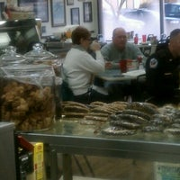 Photo taken at Bagelicious by Bo S. on 1/28/2012