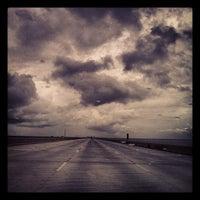 Photo taken at I-10 Twin Span Bridge by Donovan F. on 8/18/2012