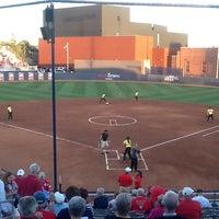 Photo taken at Rita Hillenbrand Memorial Stadium by Corey B. on 4/28/2012
