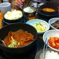 Photo taken at 삼정한식 by Jihyun K. on 3/23/2012