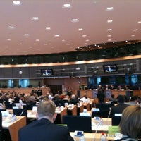 Photo taken at European Parliament Meeting Room JAN 2Q2 by Niczyl on 1/11/2012