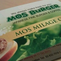 Photo taken at MOS Burger by L. F. on 1/22/2012