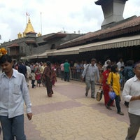 Photo taken at Shirdi Sai Baba Temple (Samadhi Mandir) by veera aditya y. on 7/28/2012