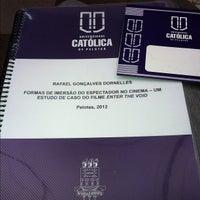 Photo taken at Universidade Católica de Pelotas (UCPel) by 👾 Rafael D. on 7/2/2012
