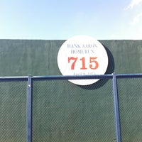 Photo taken at Hank Aaron 715 Home Run Marker by Woody M. on 7/28/2012