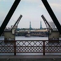 Photo taken at Hawthorne Bridge by Devin A. B. on 7/17/2012