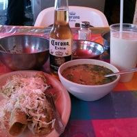 Photo taken at Barbacoa Mi Compadre Miguel by Klelia R. on 7/8/2012