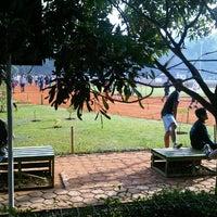 Photo taken at Sasana Olahraga Ganesha (Saraga) by Erik &. on 7/1/2012