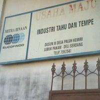 Photo taken at pabrik tahu medan by HalImah T. on 4/22/2012